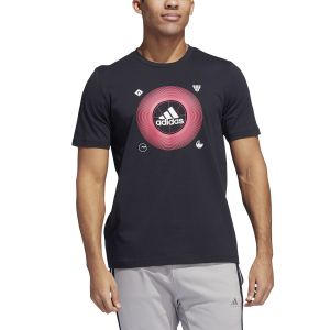 REMERA HOMBRE ADIDAS  BADGE OF SPORT ICONS NEGRO