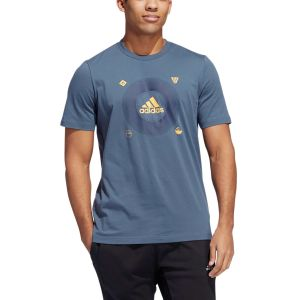 REMERA HOMBRE ADIDAS  BADGE OF SPORT ICONS GRIS OSCURO