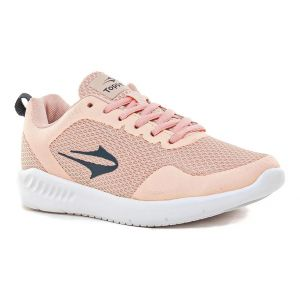 Zapatilla Topper Rosa Gris Strong Place Plus Mujer