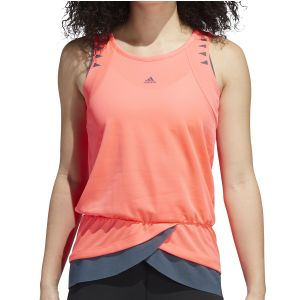 MUSCULOSA MUJER ADIDAS  HEAT RDY PRIME CORAL GRIS OSCURO