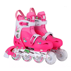 Patines Roller Niños Kit Microbell Talle 34 A 37 Art 831 Rosa