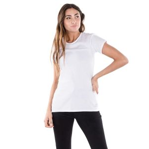 REMERA TOPPER MUJER M/C BASICA BLANCA