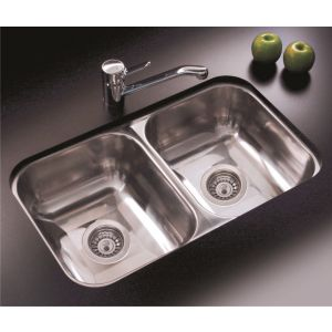 Bacha Cocina Simple Johnson Acero Inoxidable Modelo C28/18 - Incluye Sopapa  - Material Acero Inoxidable