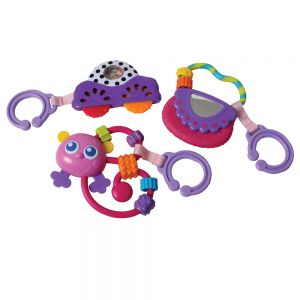 PLAYGRO Go With Me rattle Pack (pink)