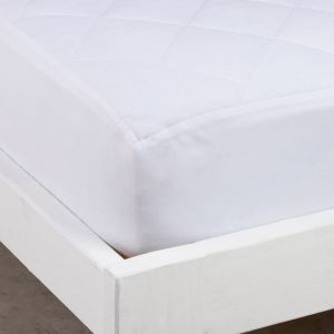 Cubrecolchón Extra Queen Size Ajustable Liso Impermeable