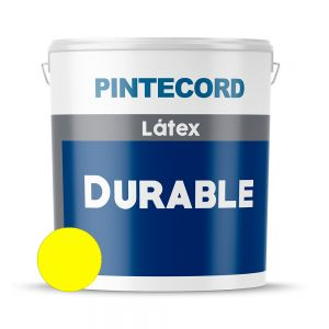 PINTURA LATEX EXTERIOR LAVABLE DURABLE AMARILLO 4 LTS PINTECORD