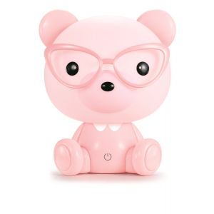 Velador Infantil Mini Oso Rosa Animal