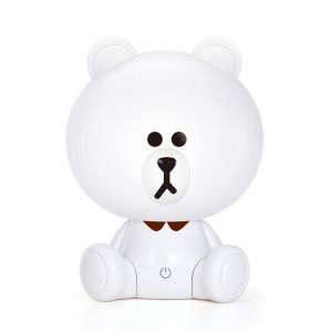 Velador Infantil Mini Oso Blanco Animal