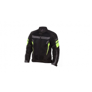 Campera Moto Cordura Nine To One 4s Negro Fluo