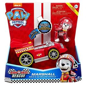 Vehiculo Deluxe Paw Patrol Marshall- Juguetes Cachavacha