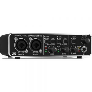 Placa De Audio Interfaz Usb Behringer Umc202 Hd
